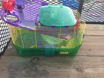 Hamster cage with accessories in Perry, Georgia