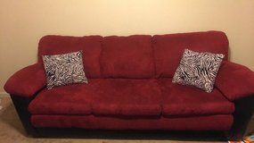 Red suede Couch set in Clarksville, Tennessee