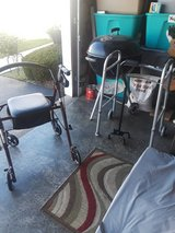 New rolling walker with seat and storage used once in Lockport, Illinois