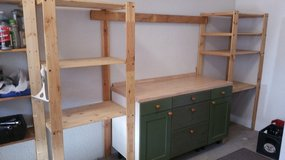 Workbench and shelves  $75 in Ramstein, Germany