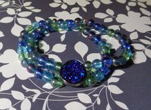 Blue Geode Double Bracelet in Conroe, Texas