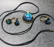 Black (Faux) Opal Jewelry Set in Conroe, Texas