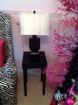 Black Side Table and Lamp in Naperville, Illinois