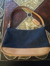 AUTHENTIC COACH BLUE/TAN COACH PURSE in Bartlett, Illinois