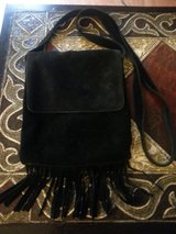 BLACK SUEDE FRINGE PURSE in Bartlett, Illinois