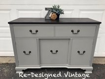 Beautiful farmhouse buffet or tv stand in Naperville, Illinois