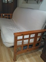Futon sleeper sofa couch bed full size double thick mattress with cover in Joliet, Illinois