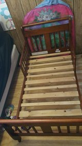 Wooden toddler bed in Fort Polk, Louisiana