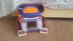 Vtech Mobi Go 2 w/case and 2 games in Barstow, California