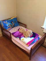 Wood Toddler Bed with Mattress in Fort Riley, Kansas
