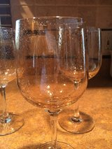 """Set of 4 Amber """"Bubble Glass"""" Goblets in St. Charles, Illinois"""