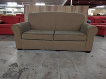 BROWN PULLOUT COUCH in Cherry Point, North Carolina