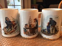Set of 3 Norman Rockwell Collector Mugs in Naperville, Illinois