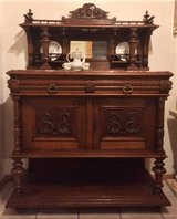 Antique French Sideboard Buffet / Credenza Server / Bar / Cabinet in Ramstein, Germany