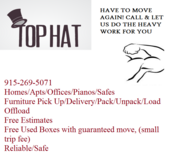 FURNITURE MOVERS in Fort Bliss, Texas