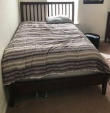 Full Size bedroom set frame, head board and Serta pillow top mattress in Columbus, Georgia