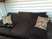 Brown Sofa and Loveseat Set for ONly $60 LOOK HERE! in Kingwood, Texas