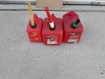 3 gas cans for only $15 in Kingwood, Texas