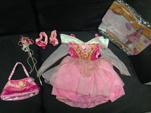 Disney Princess Aurora Costume ( 3T - 4T ) wand purse shoes in Fort Campbell, Kentucky