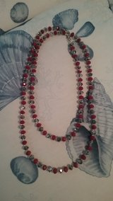 Red beaded necklace in Beaufort, South Carolina