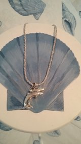 Silver and Gold Dolphin Necklace and Charm in Beaufort, South Carolina