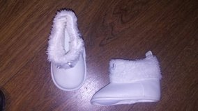 Carters White Baby boots 3-6 months in Naperville, Illinois