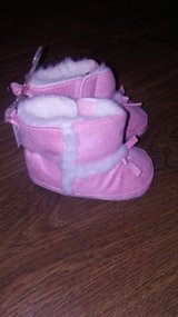 Carters Pink baby boots 6-12 months in Naperville, Illinois