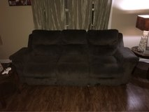 couch with pull down cup holder in Moody AFB, Georgia