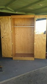solid oak  wood cabinet in Yucca Valley, California