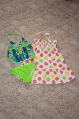 4T Green Swimsuit w/polka dot cover-up in Alamogordo, New Mexico