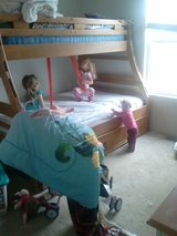 Full/Twin Bunkbed with Trundle & Mattresses in Camp Lejeune, North Carolina