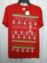 NEW Chuck Norris Christmas Shirt Mens Small in Joliet, Illinois