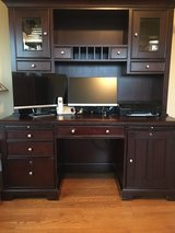 Solid wood Desk with hutch (2 pieces) in Aurora, Illinois