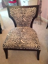 Black and zebra print chair in Bartlett, Illinois