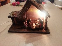 NATIVITY SET FROM ITALY WITH WORKING LIGHT in Sugar Grove, Illinois