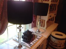 White Desk/ crystal lamps in Naperville, Illinois