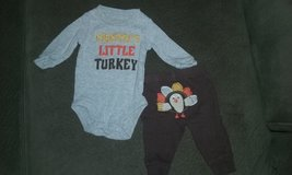 Newborn Thanksgiving outfit in Aurora, Illinois