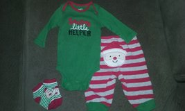 3 month Xmas outfit in Aurora, Illinois