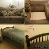 Loveseat and Twin Bed w/mattress in Oceanside, California