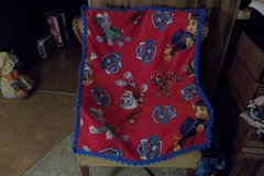 Paw Patrol Fleece Baby Blanket with  Crocheted Edging in Belleville, Illinois