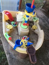 Pirate boat water table in Clarksville, Tennessee