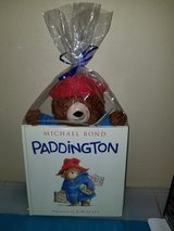 Paddington bear with book in Fort Benning, Georgia