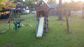 Children swing set in Warner Robins, Georgia