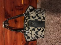 Black and grey coach purse in Cleveland, Texas