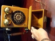 1927 vintage rotary dial wooden telephone in Perry, Georgia