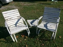 Lawn chairs with small middle table in Fort Campbell, Kentucky