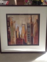 City scene framed picture in Naperville, Illinois