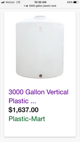 Never used 3000 gallon tank. in Clarksville, Tennessee