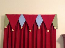 "3 Window Valences for Little Boys Room - Red, Blue, Green & Yellow (each is 48"" wide) in Chicago, Illinois"