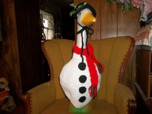 Snowman Geese Goose Outfit Dress Crochet Outdoor Statue Decor Garden Decor in Belleville, Illinois
